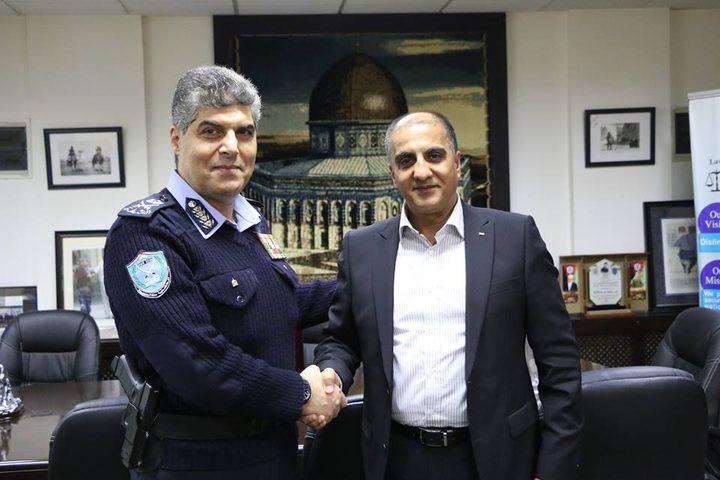 اللواء حازم عطالله يستقبل السفير الفلسطيني في بلغاريا