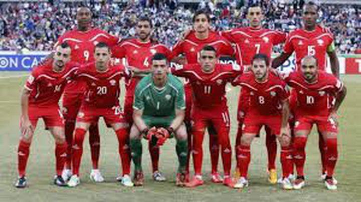منتخب فلسطين يتأهب لمواجهة عمان