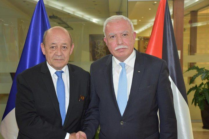 المالكي يبحث مع نظيره الفرنسي جهود احياء عملية السلام