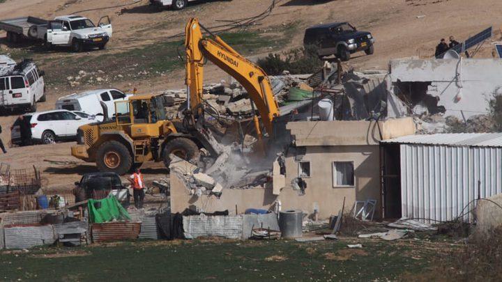 """تضاعف عمليات هدم مباني النقب خلال عام """"2017"""""""