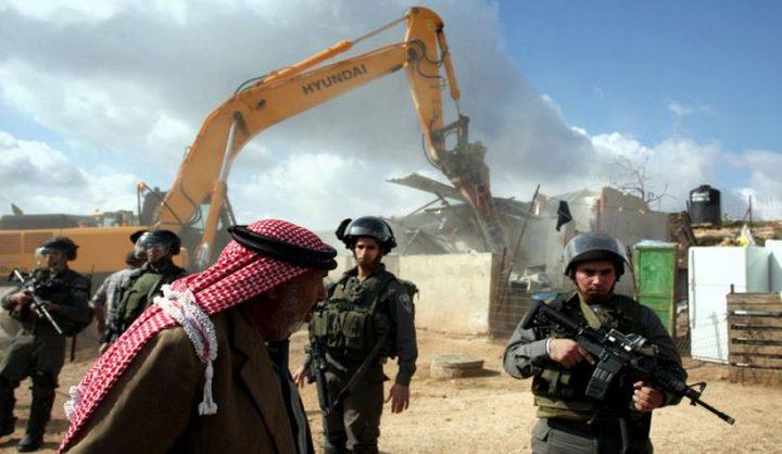 الاحتلال يهدم خيمة سكنية شرق يطا جنوب الخليل