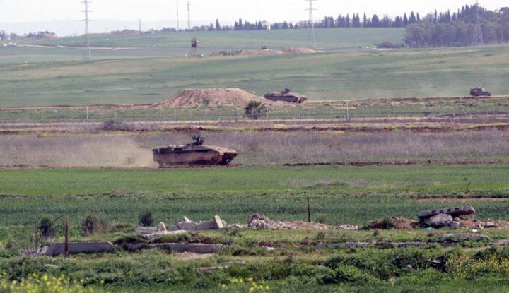 الاحتلال يستهدف مناطق شرق حي الزيتون بالرصاص الحي ويزعم حرق الية عسكرية