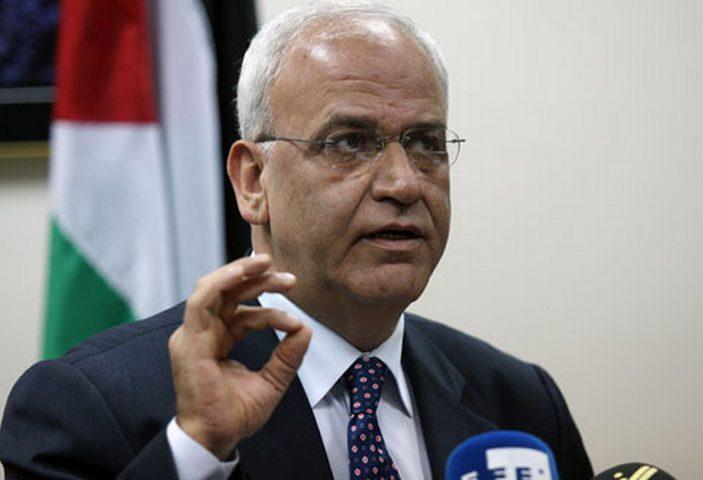 عريقات: الإدارة الأميركية وإسرائيل تقودان حملة تحريضية ضد شعبنا وقيادته