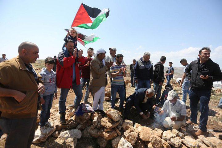 بلعين: عشرات المواطنين يتظاهرون احياءً لذكرى يوم الأرض