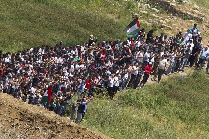 الآلاف  يشاركون بمسيرات العودة شرق غزة