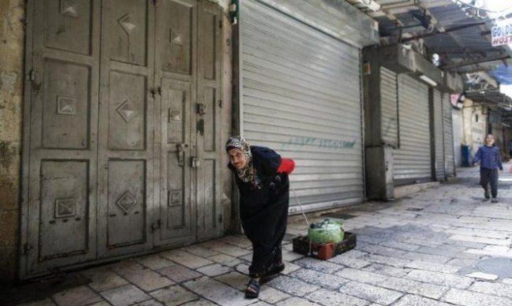 بالصور: إضراب شامل يعم المدن الفلسطينية حداداً على أرواح شهداء مسيرة العودة