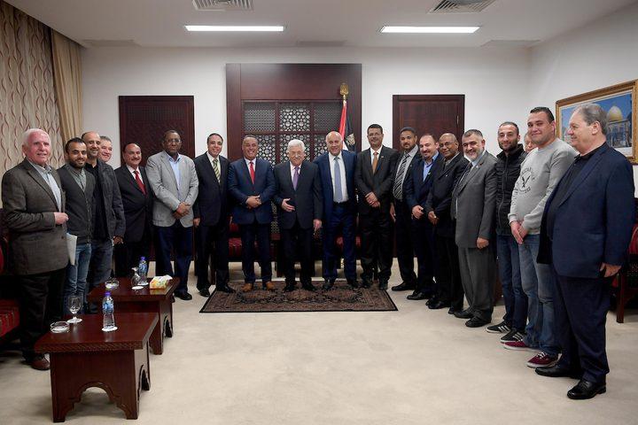 """الرئيس يستقبل الوفود العربية المشاركة بمنتدى"""" تنظيم وإدارة المهرجانات والعروض الرياضية"""""""