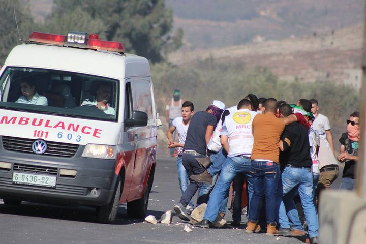 إصابة مواطن بالرصاص الحي جنوب نابلس