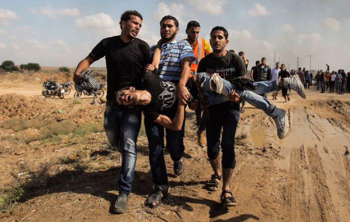 35 إصابة برصاص الاحتلال على حدود غزة (محدث)