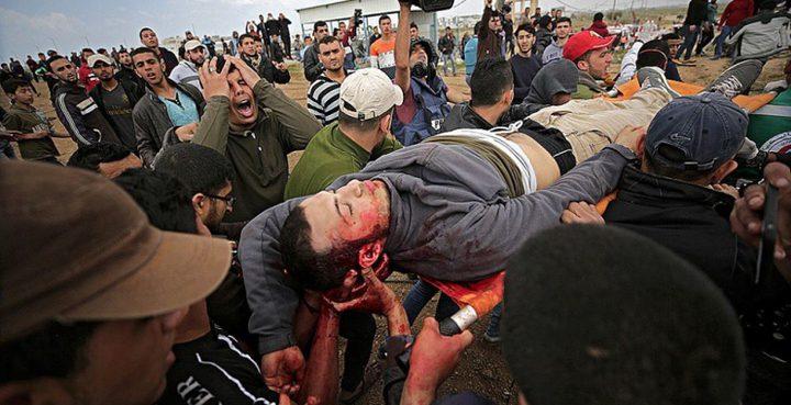 إصابات إحداها خطيرة في استهداف الاحتلال لمسيرة العودة بغزة