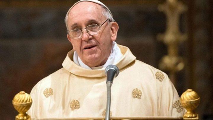 البابا يدعو إلى السلام والمصالحة في الأراضي المقدسة