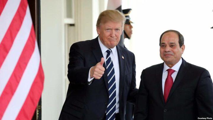 ترامب مهنئًا السيسي: حريصون على تعزيز العلاقات
