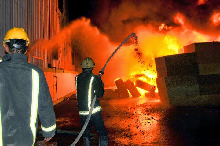 اندلاع حريق هائل في نابلس