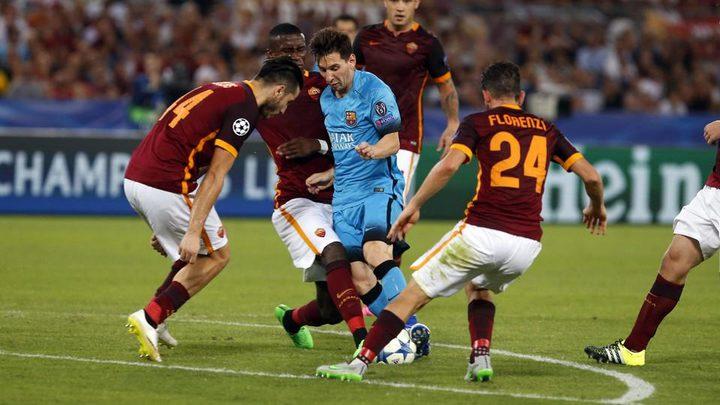 برشلونة يقهر روما برباعية في دوري الأبطال