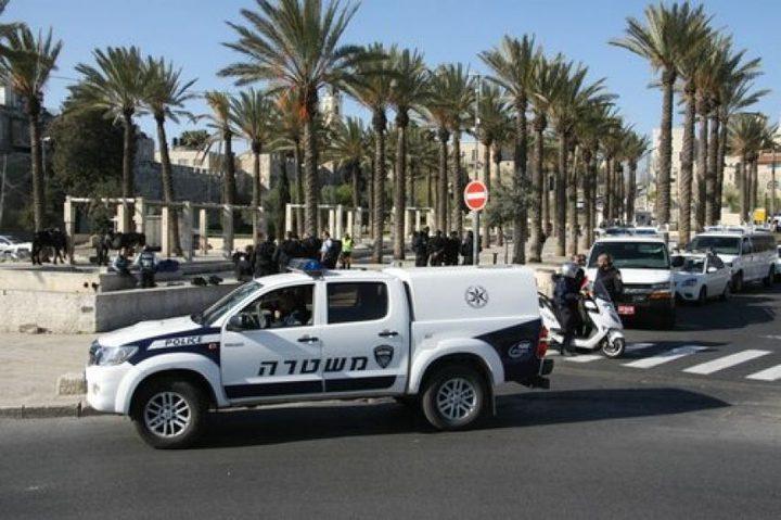 إصابة شاب برصاص شرطة الاحتلال على مدخل أريحا