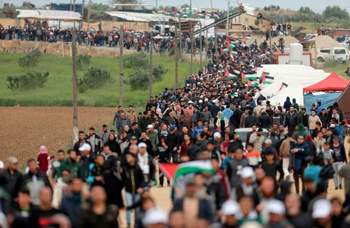 مسيرات العودة مستمرة لليوم الـ5.. اصابات على الحدود