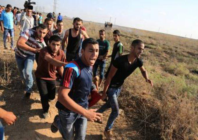 إصابة شابين برصاص الاحتلال في مواجهات شرق غزة