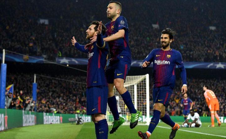 برشلونة يضع قدمه في نصف نهائي دوري الأبطال