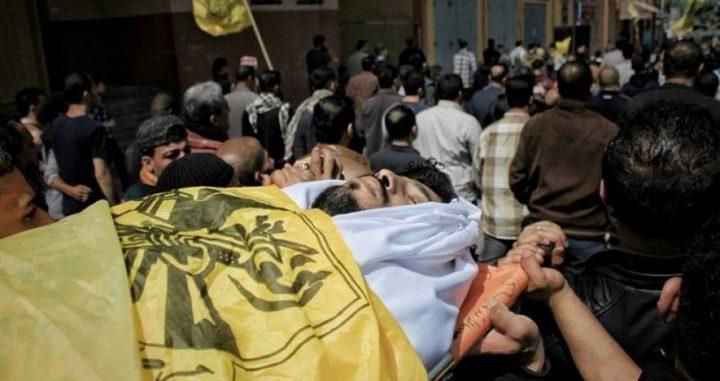 تشييع جثمان الشهيد ثائر رابعة في جباليا