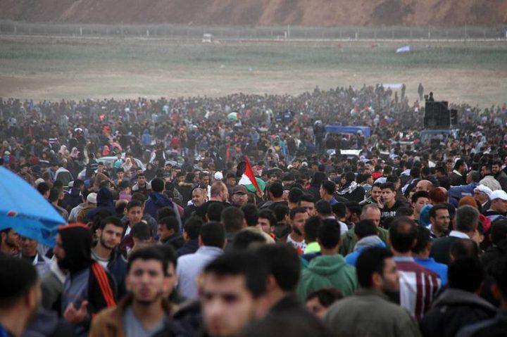 هيئة مسيرة العودة: الاحتلال يصعد تجاه المتظاهرين و14 مايو يوم النفير العام