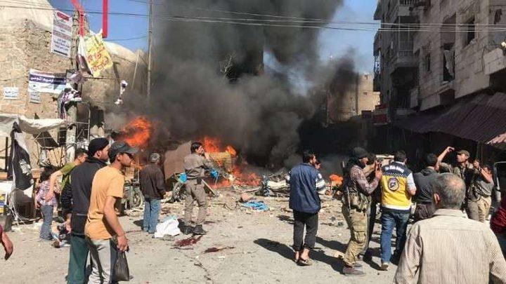 مقتل 8 مدنيين وإصابة 20 آخرين إثر تفجير سيارة مفخخة بمدينة الباب