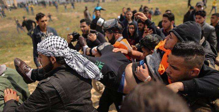 8 إصابات برصاص الاحتلال شرق غزة إحداها خطيرة