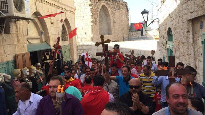"""الطوائف المسيحية الشرقية في فلسطين تحتفل اليوم """"بسبت النور"""""""