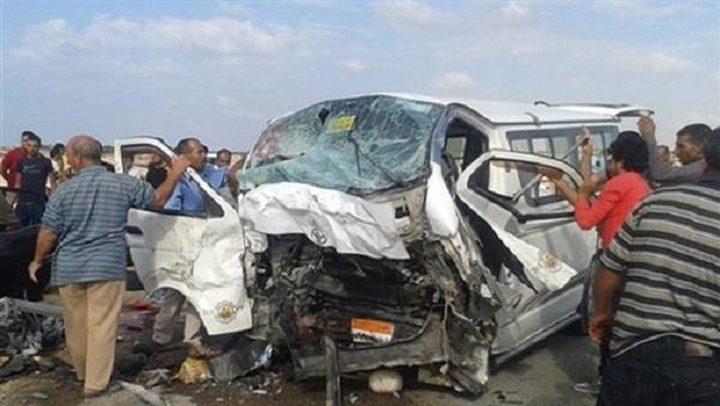 إصابة 25 مواطنا في حادث تصادم سيارتين بالفيوم