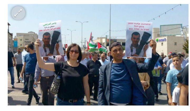 """فلسطينيو الداخل يتضامنون مع غزة وينعون الشهيد """"مرتجى"""""""