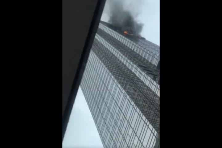 قتيل و6 جرحى في حريق اندلع في برج ترامب