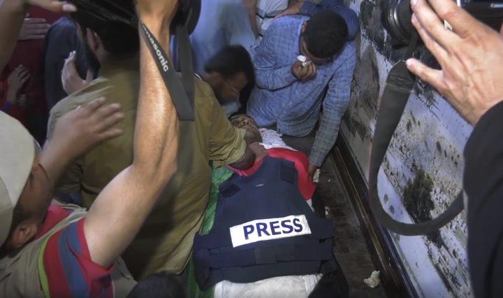 غزة تودّع الزميل الصحفي ياسر مرتجى (فيديو)