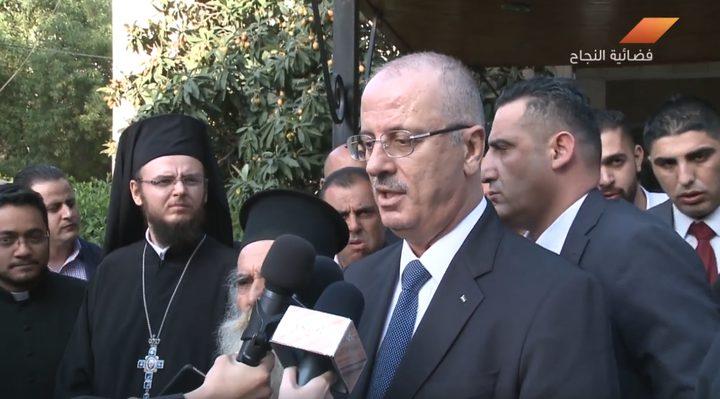 الحمد الله يزور كنيسة الروم الكاثوليك في نابلس (فيديو)