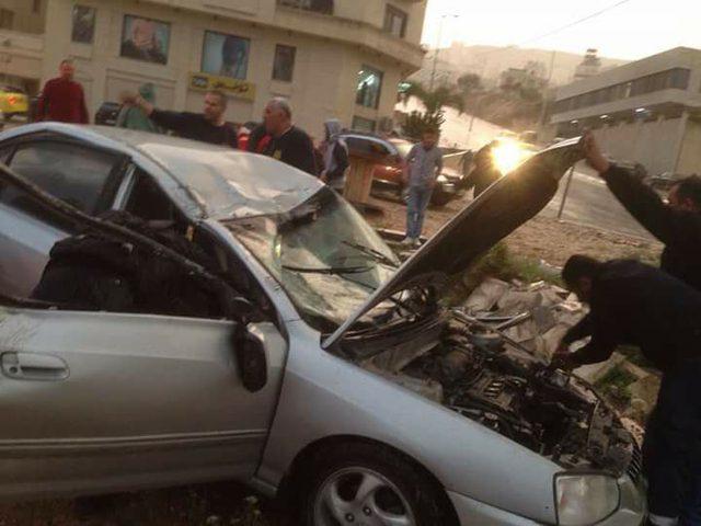 بالصور: إصابة ثلاثة مواطنين في نابلس
