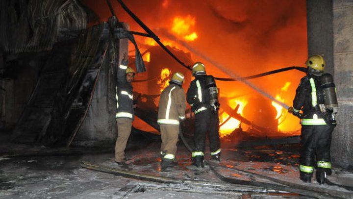 اندلاع حريق في نابلس