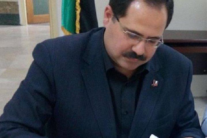 صيدم يوقّع اتفاقيّات لدعم البحث العلمي في الجامعات الفلسطينيّة