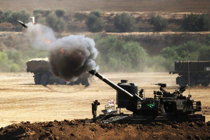 انفجار عبوة خلال توغل للاحتلال وقصف مدفعي شرق غزة