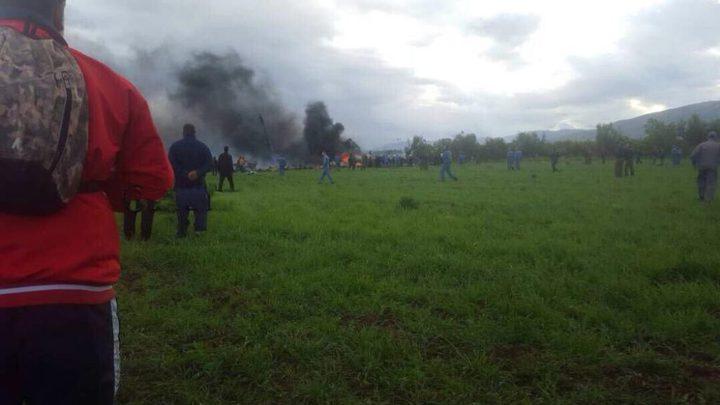 مصرع 257 شخصا في تحطم طائرة نقل عسكرية جزائرية