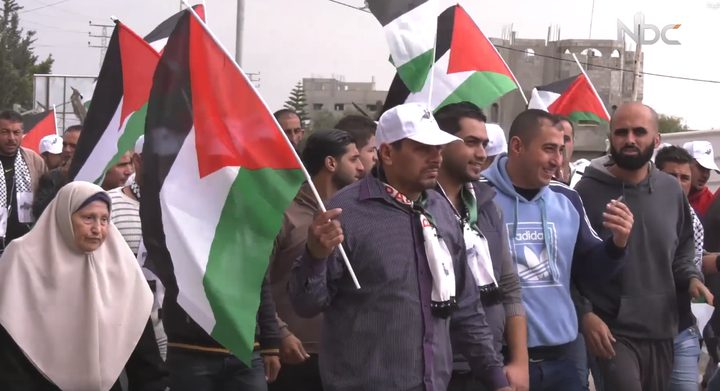 """مسيرة يوم الجمعة القادمة تحمل عنوان """"رفع علم فلسطين وحرق علم الاحتلال"""""""