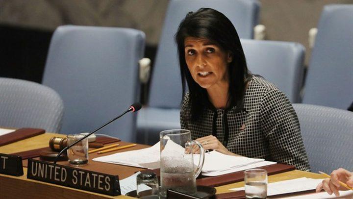 هايلي: لا يجب الاستعجال بقرارات الرد بشأن سوريا