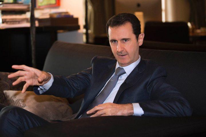 """الأسد يشرح لروحاني تفاصيل """"العدوان الثلاثي"""" على سوريا"""