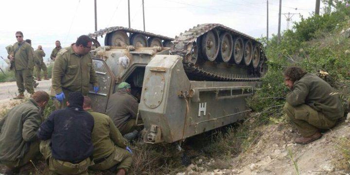 مقتل جندي في انقلاب دبابة