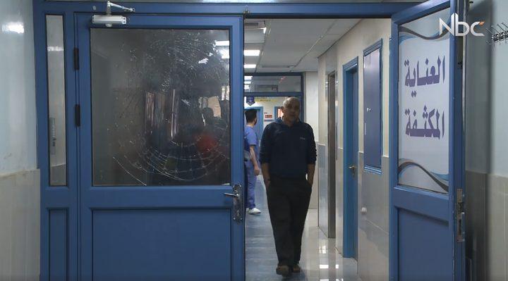 بالفيديو.. اعتداء جماعي على مستشفى نابلس التخصصي
