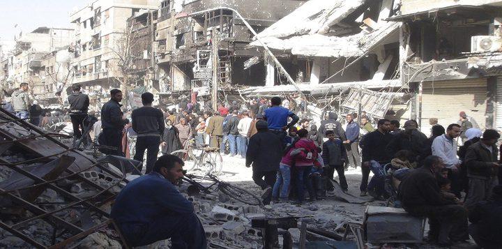 قصف كثيف على مخيم اليرموك ومخاوف من نزوح آلاف المدنيين بعد ارتقاء أربعة لاجئين