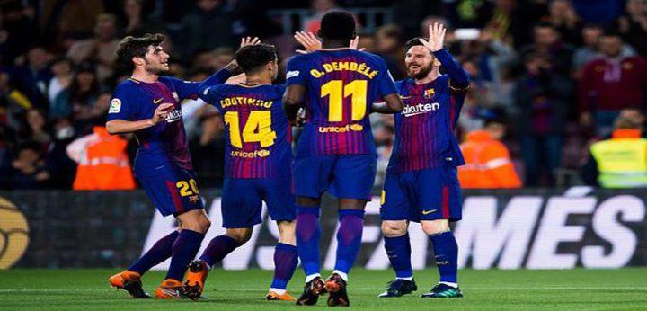 برشلونة يتوج بطلا لكأس ملك اسبانيا للمرة 30 في تاريخه بخماسية نظيفة في مرمى اشبيلية