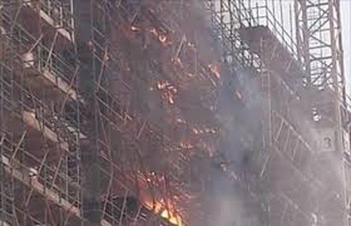 حريق هائل في متحف بمنطقة الهرم