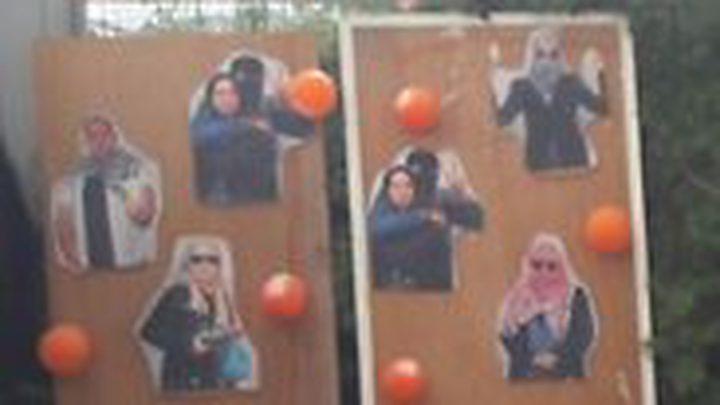 الإحتلال يستخدم صور الفلسطينيين كأهداف للرماية !