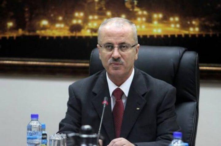 الحمد الله: نطالب المجتمع الدولي بالتدخل السريع لتوفير الحماية الدولية لشعبنا