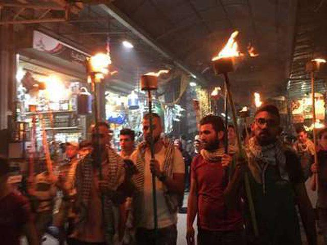 مسيرة مشاعل إحياءً للذكرى الـ 70 للنكبة
