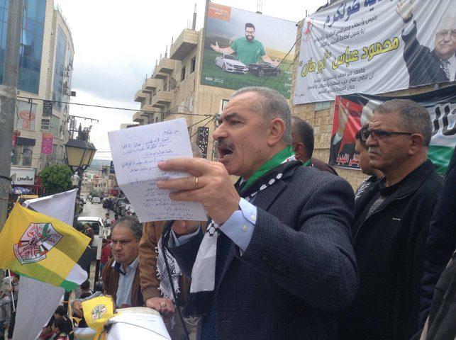 """اشتية: نقل السفارة لن يسقط الحق الفلسطيني بالقدس وسنعزز """"صمودنا المقاوم"""""""