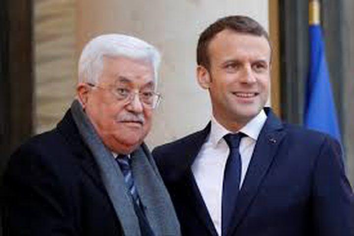 ماكرون يعرب عن تضامن فرنسا مع الشعب الفلسطيني